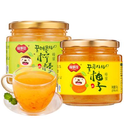 福事多蜂蜜柚子柠檬茶1Kg罐装冲水喝的饮品 泡水冲饮冲泡水果茶酱