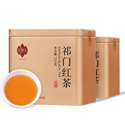 祥源祁门红茶2019年新茶正宗原产地安徽祁红香螺浓香型散装500g